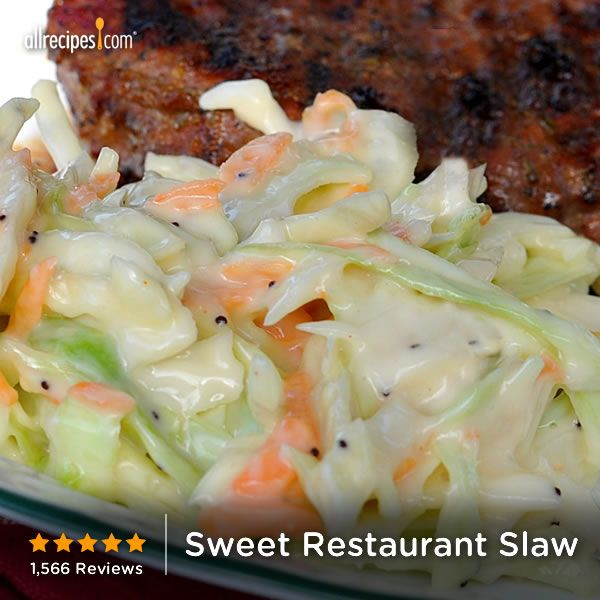 ... how to make coleslaw just like the creamy restaurant slaw you love