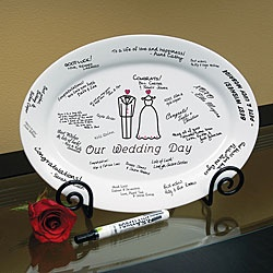 'Our Wedding Day' Guest Book Platter and Easel
