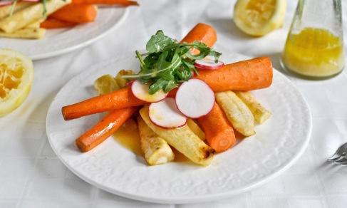 Honey Roasted Carrot Salad with Meyer Lemon and Herb Vinaigrette | Re ...
