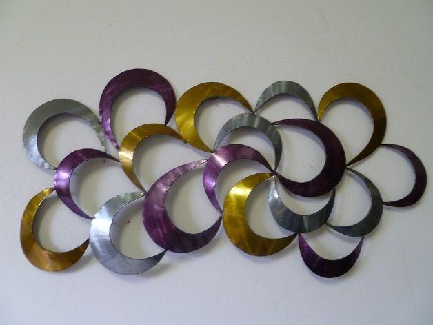 Wanddeko metall abstrakt raum und m beldesign inspiration for Wanddekoration metall