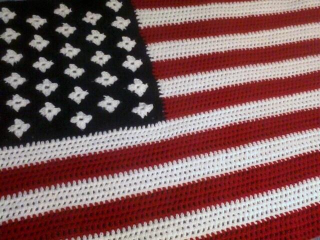 Crochet Pattern For Usa Flag : Crochet American Flag Crochet Pinterest