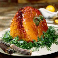 Baked Ham with Bourbon Glaze Recipe/honey, molasses, orange juice ...