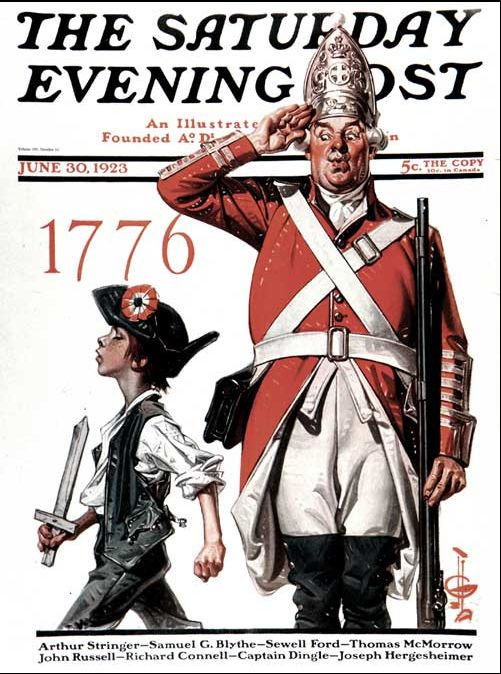 1923 Saturday Evening Post Fourth of July - cover art by J.C. Leyendecker