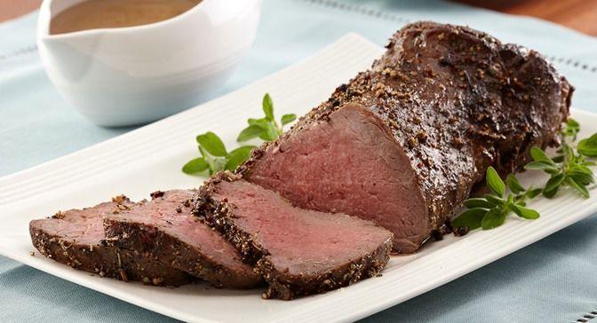beef tenderloin or beef eye of round roast A seasoning rub of ...