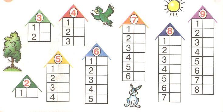 Состав числа с раскрасками