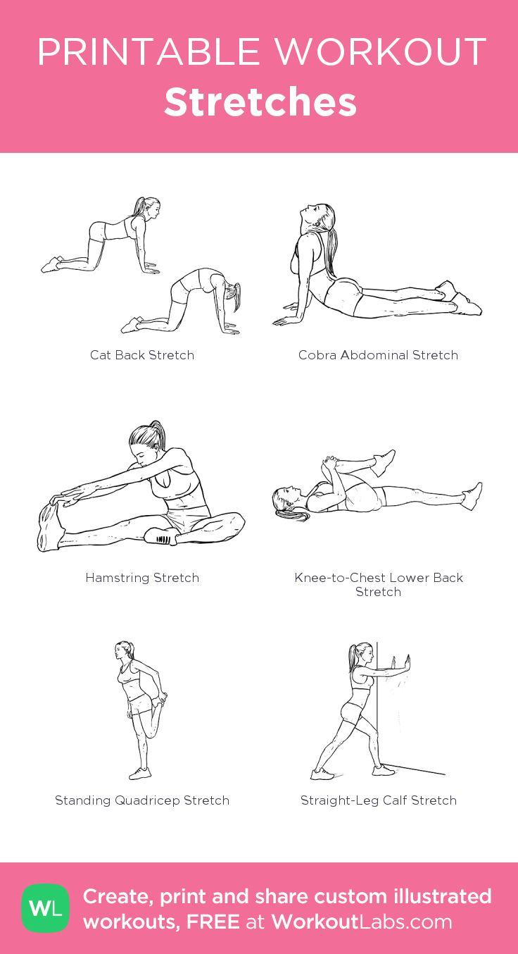 Stretches: my custom printable workout by @WorkoutLabs #workoutlabs # ...