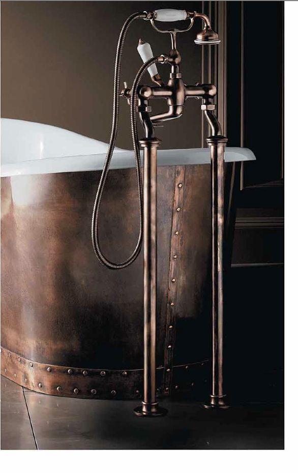 Griferia Baño Vintage:Grifería Vintage en color CobreGriferia baño