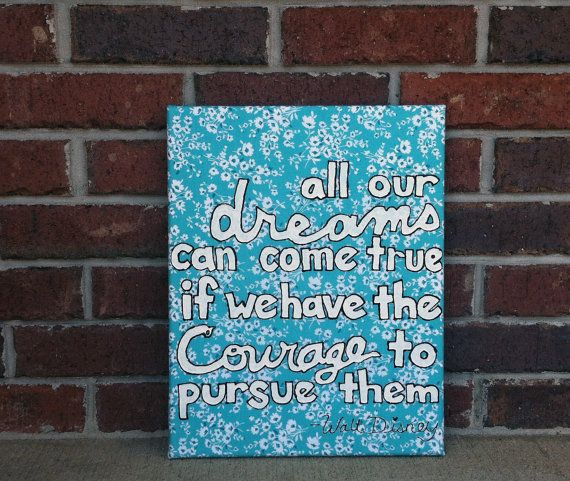 inspirational quotes on painted canvas quotesgram