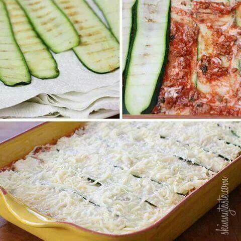 no noodle lasagna | Low Carb!!! | Pinterest