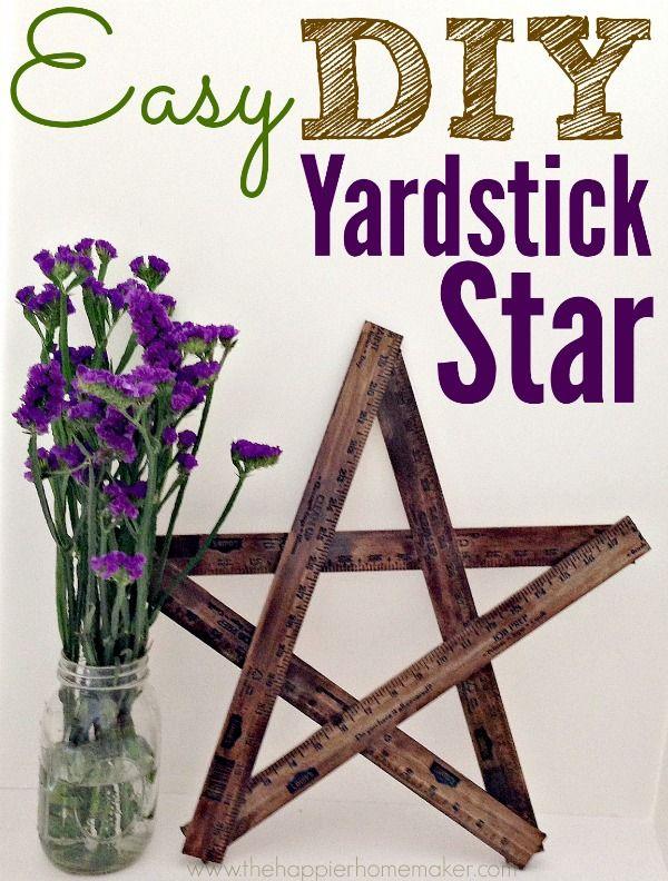 Easy DIY Yardstick Star - Pretty Handy Girl