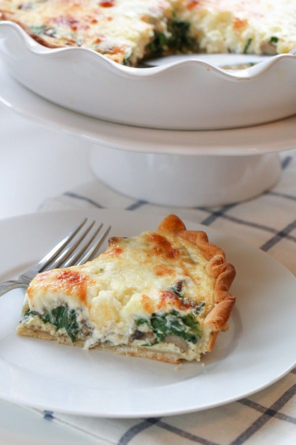 Feta, Spinach & Mushroom Quiche..prepared in 10 minutes and now in the ...