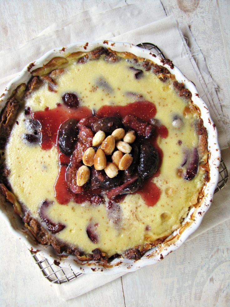 Fig and Almond Custard Tart | TARTS | Pinterest