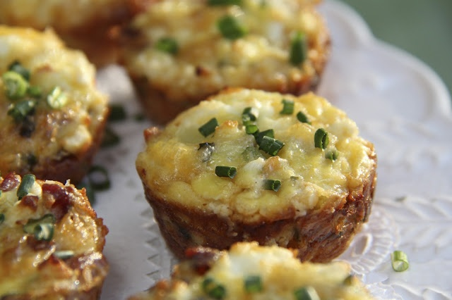 Italian Sausage & Potato Quiche Bites with Cheddar & Goat Cheese