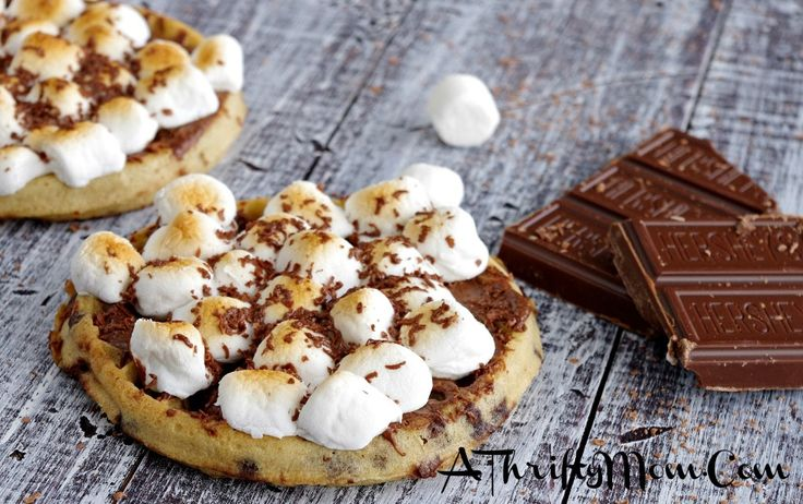 Eggo waffle S'mores. | S'mores and more S'mores | Pinterest