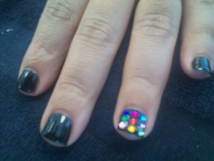 Shellac nails by angela | Nails all free handed by me :) | Pinterest