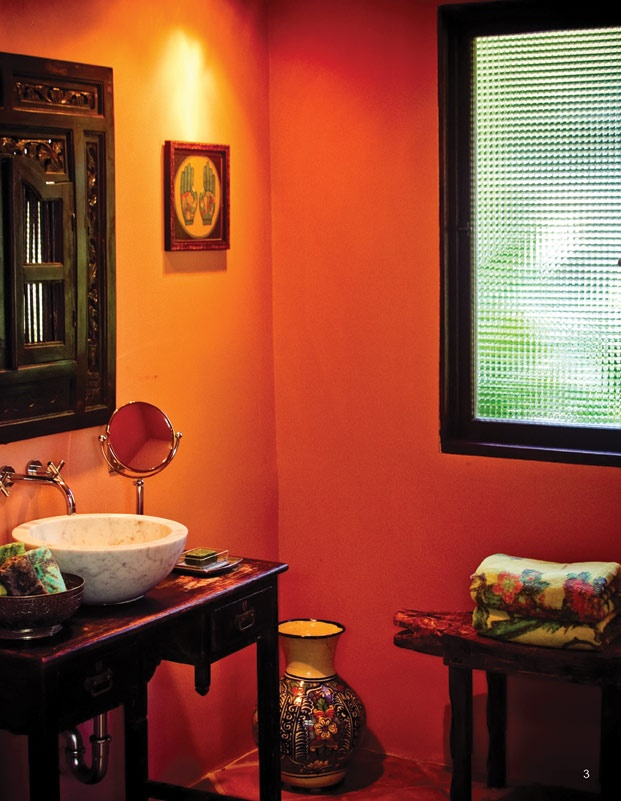 Warm colors bathroom pinterest for Warm bathroom colors