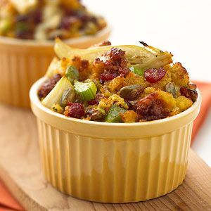 Chorizo Corn Bread Stuffing Cranberries make a special appearance in ...