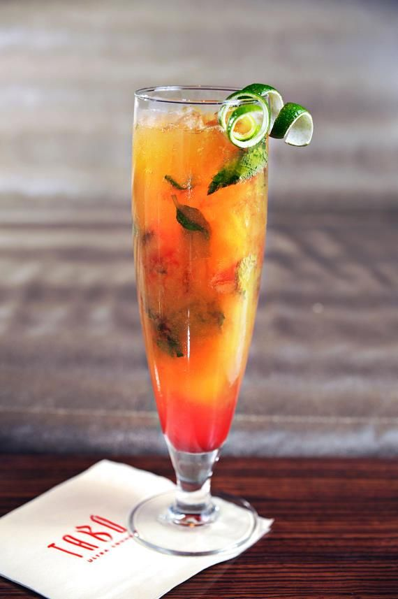 Peach Kiss - Absolut Peach Vodka, Fresh Lime Juice, Simple syrup ...