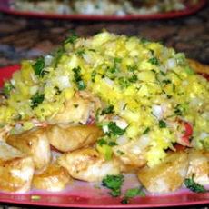 Seared Scallops with Tropical Salsa | BAR B Q | Pinterest