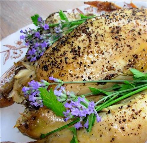 Honey chicken with lavender | Chicken, el Pollo, le Poulet! | Pintere ...