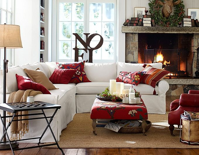 christmas living pottery barn for the home pinterest