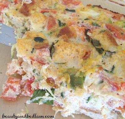 Veggie Egg Casserole, Vegetable Egg Bake