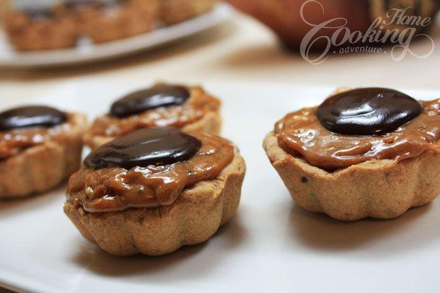 Walnut Caramel Mini Tarts :: Home Cooking Adventure - Nuts