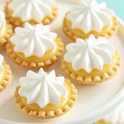 Mini Lemon Meringue Pies Recipe from Grandmother's Kitchen Cut out ...