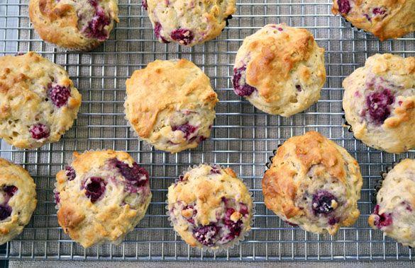Heartland Raspberry Yogurt Muffins
