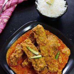 Fish Kaliya, a bengali style fish curry, fish in onion-yogurt based ...