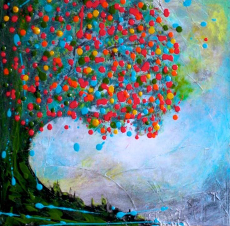 Pin by vanessa katz fine art on abstract dot trees for Katz fine art
