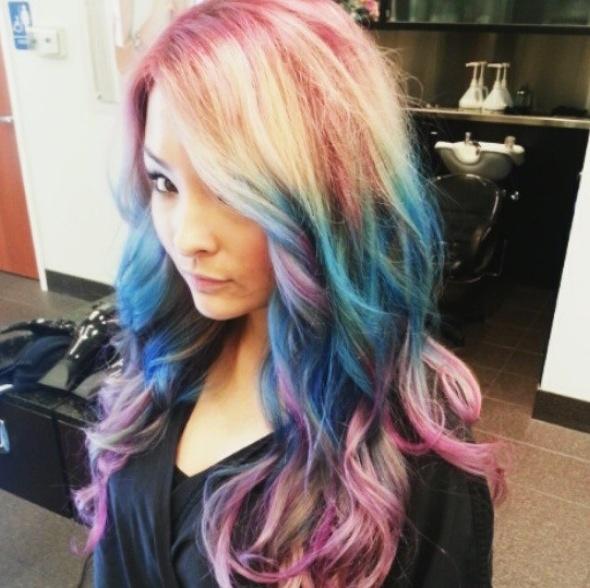 tie dye blue purple hair hurr pinterest. Black Bedroom Furniture Sets. Home Design Ideas