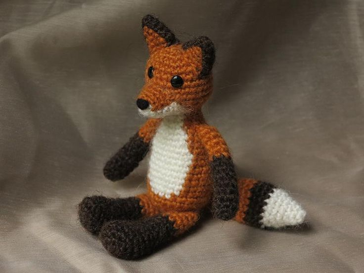 Crochet Fox : Crochet fox pattern Cute crochet &knitting patterns to buy Pinter ...
