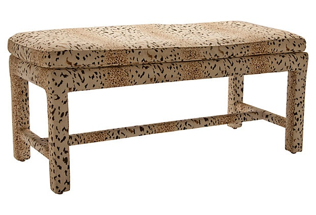 Animal print bench on hawaii pinterest Leopard print bench