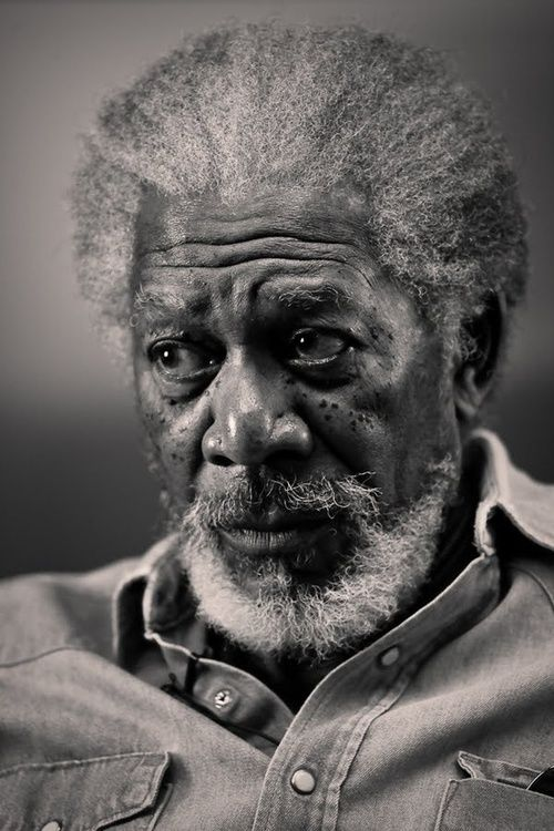 Morgan Freeman | by Annie Leibovitz, capturing his thoughts at that moment, making this a classic