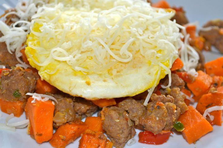 Sweet Potato & Turkey Sausage Hash www.prettybitchescancooktoo.com
