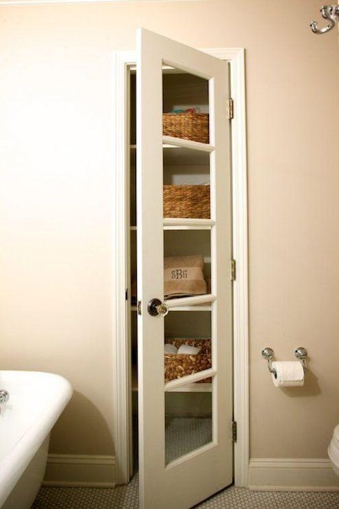 Linen closet in bathroom winding way bathrooms pinterest for Closet in bathroom design