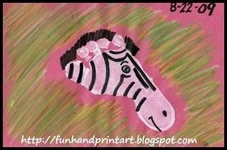 foot print zebra