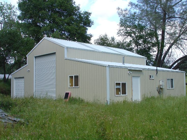 Barns pacific steel buildings shop pinterest for One story garage with living quarters