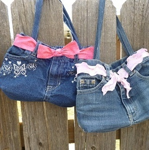 The Girl Purse from Upcycled Jeans
