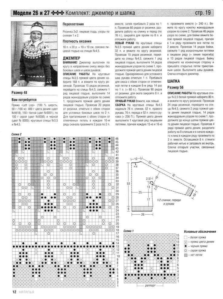 Свитер лопапейса вязание сверху на 1 5 года спицами схема 19