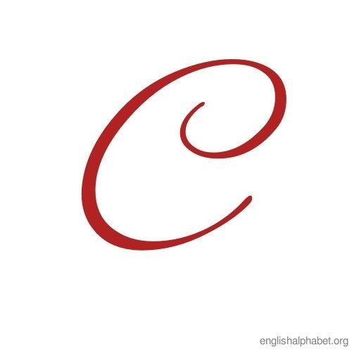 Uppercase Cursive Alphabet c | crafts | Pinterest