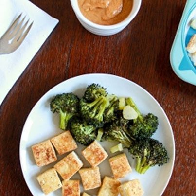 Salt and Pepper Tofu with Peanut Sauce | lunch/dinner | Pinterest