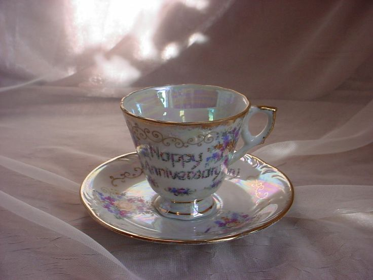 ... Norleans Wedding Anniversary Cup & Saucer Set Japan Gift Idea Floral