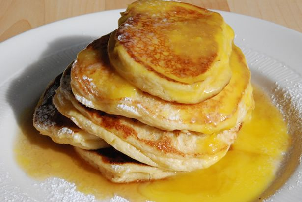 Fluffy Ricotta Pancakes - The Food in my Beard