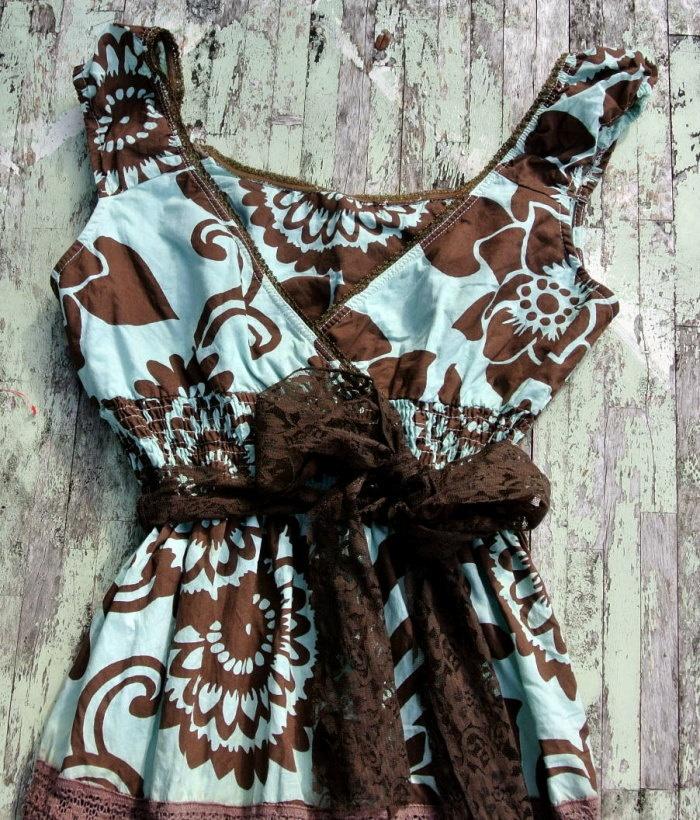 Rustic Gypsy Cowgirl Slip Dress