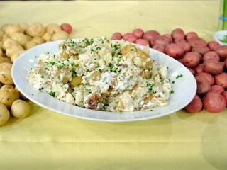 ... Lagasse's Easter Feast Smashed Potatoes with Sour Cream and Chives