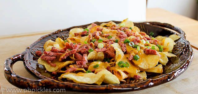 ... Butter & Dill Pickles: {Irish Nachos with Guinness Cheddar Sauce