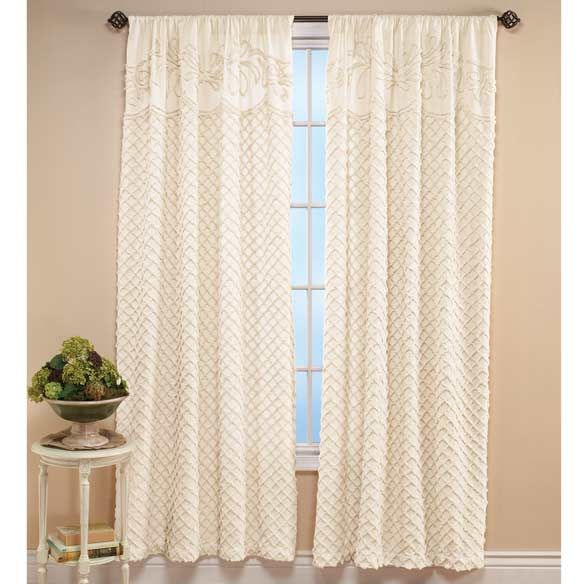 The Martha Chenille Curtain Panel Zoom Beautiful Home