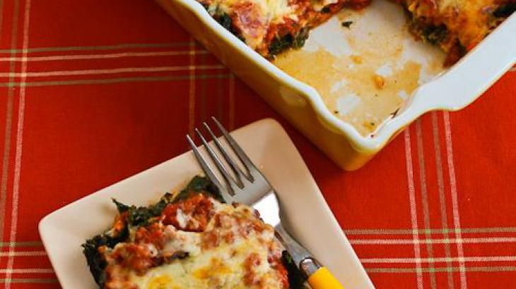 Sausage And Kale Mock Lasagna Casserole Recipe — Dishmaps